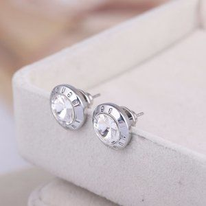 Henri Bendel Zircon Hollow Flower Earrings